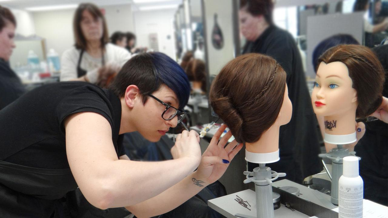 cosmetology hair styling