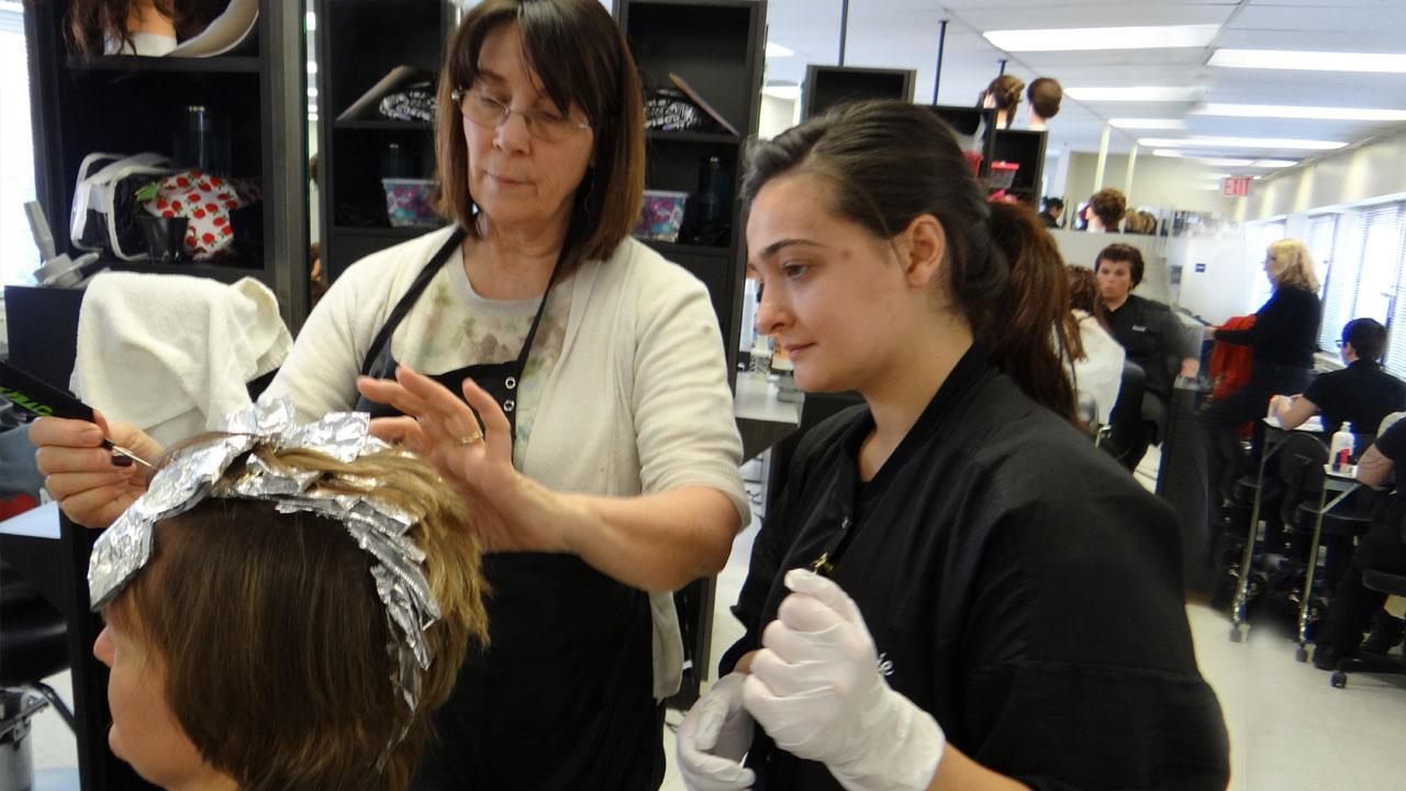 cosmetology hair coloring