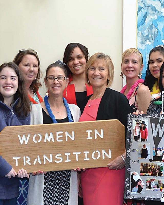 Women In Transition graduating class